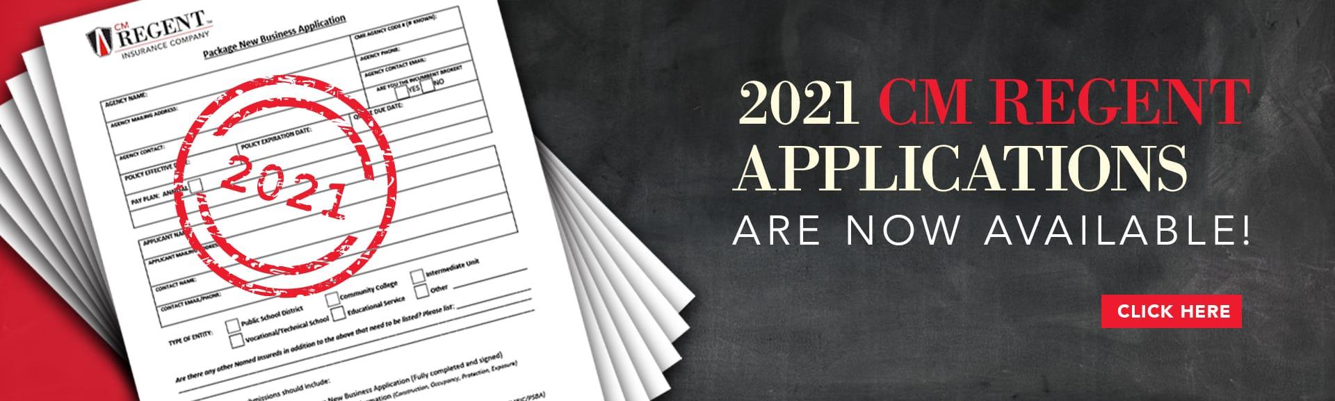 CM Regent 2021 Applications